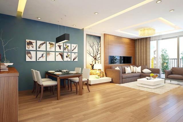 Căn hộ bàn giao nội thất hoàn thiện tại Khu Sapphire - Goldmark City.