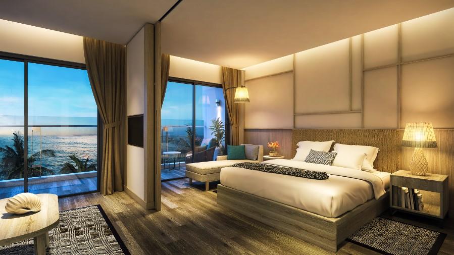 100% căn hộ khách sạn đều có tầm nhìn biển tuyệt đẹp.