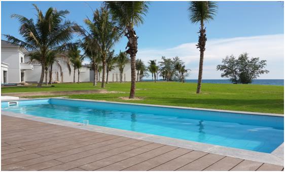 Bể bơi thông minh được HVC lắp đặt tại biệt thự Vinpearl Phú Quốc.