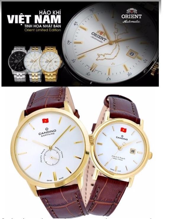 """2 mẫu đồng hồ danh tiếng của Thế giới có hình bản đồ Việt Nam và câu khẳng định """"Hoàng Sa – Trường Sa là của Việt Nam"""" do CEO Galle Watch tạo dựng."""