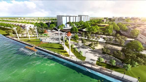 Quảng trường ánh sáng bên sông đầu tiên sử dụng nguồn năng lượng sạch tại Đà Nẵng.