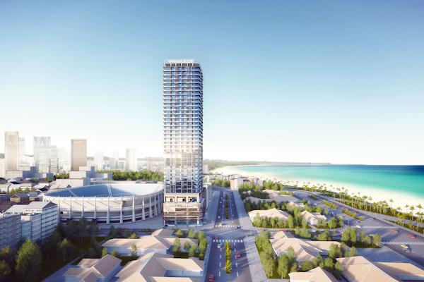 Thiết kế mở của Ocean Gate là thiết kế lần đầu được áp dụng khi xây dựng căn hộ khách sạn tại Nha Trang.