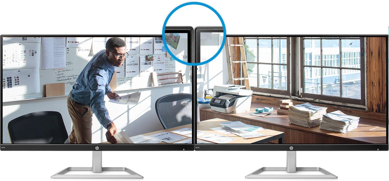 Thiết kế viền 3 cạnh siêu mỏng cho phép ghép nối liền mạch nhiều màn hình giúp mở rộng không gian làm việc.