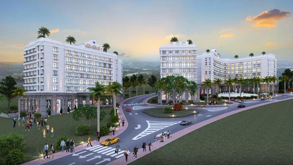 Khối căn hộ Sapphire nằm trong giai đoạn 2 thuộc dự án Aloha Beach Village.