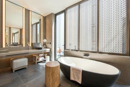 """Regent chính là tập đoàn đầu tiên trên thế giới đưa ra concept """"Five-fixture bathroom"""" sang trọng và cao cấp."""