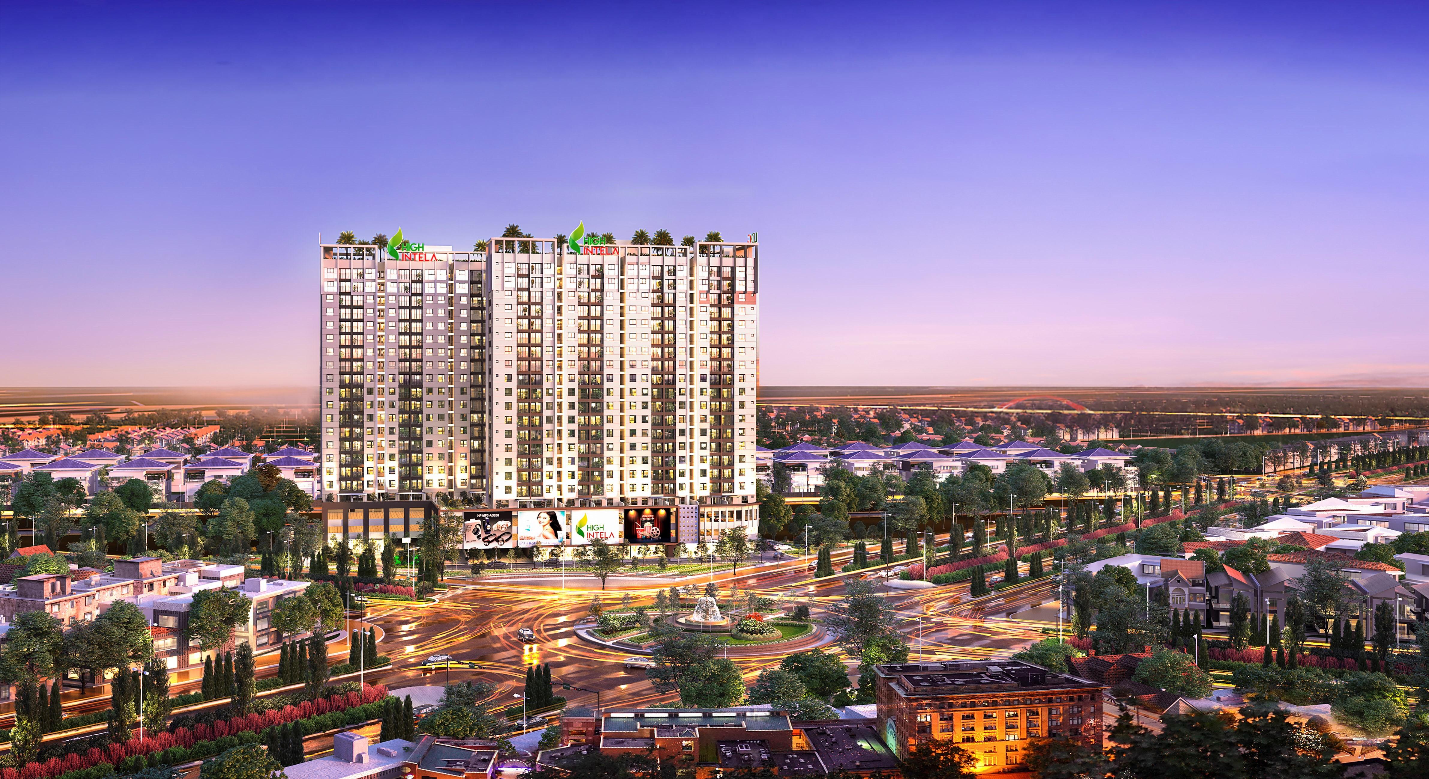 Khu căn hộ thông minh mặt tiền đại lộ High Intela của LDG Group tại khu Tây Sài Gòn.