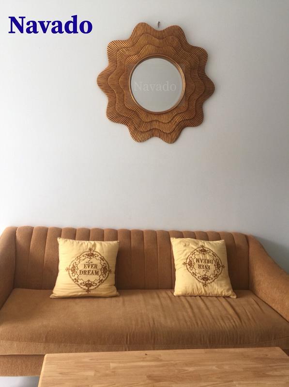 12 mẫu gương trang trí phòng khách sang chảnh - Ảnh 3.