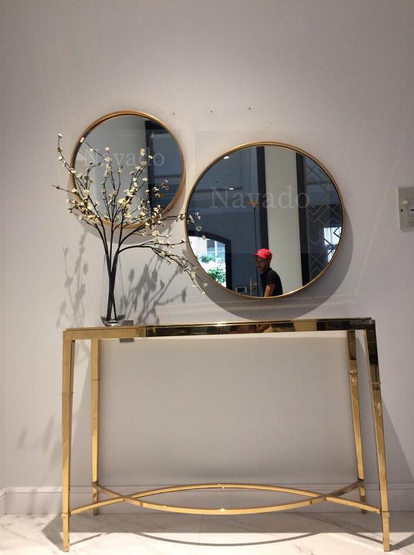 12 mẫu gương trang trí phòng khách sang chảnh - Ảnh 11.