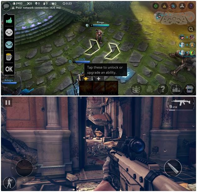 Một số tựa game đã được tối ưu để tận dụng màn hình vô cực trên Galaxy S8