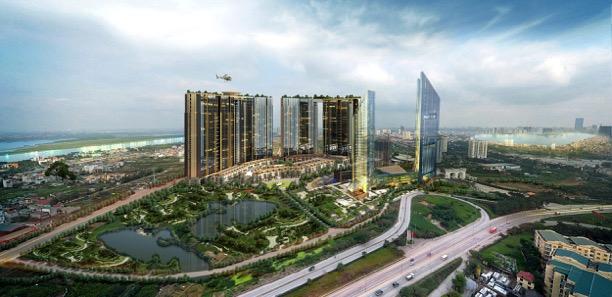 Dự án Sunshine City mang đến diện mạo mới cho trục đường kết nối lõi trung tâm với khu vực phía Tây thành phố.