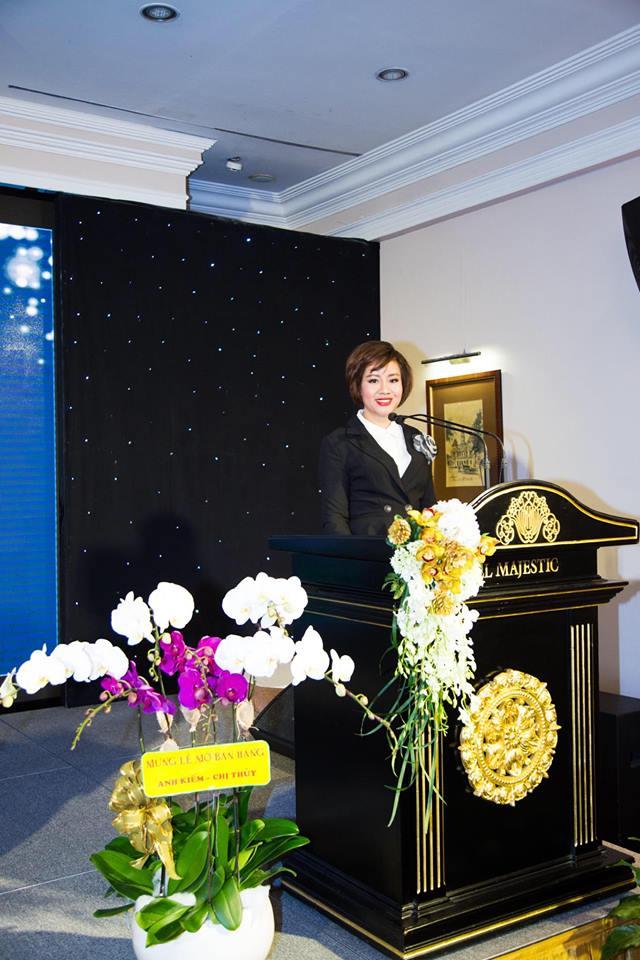Bà Nguyễn Thị Thanh Tú – Chủ tịch hội đồng quản trị, Tổng Giám đốc Star Beach phát biểu tại sự kiện