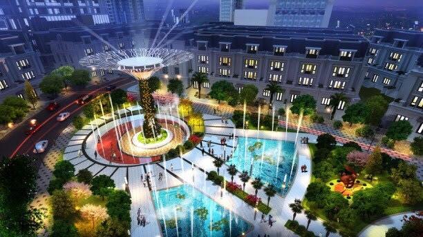 """Sunshine City như 1 """"kinh đô ánh sáng"""" lộng lẫy khi đô thị lên đèn."""