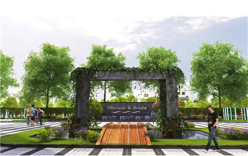 Dự án Riverside Garden có đến 30% căn hộ diện tích lớn.