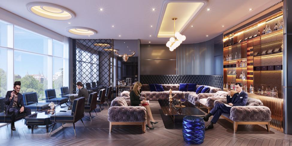 Phối cảnh minh họa Cigar Lounge & Wine Bar sang trọng