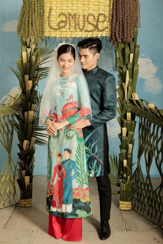 2 quán quân Next Top Model nổi bật với BST áo dài ngày cưới - Ảnh 8.