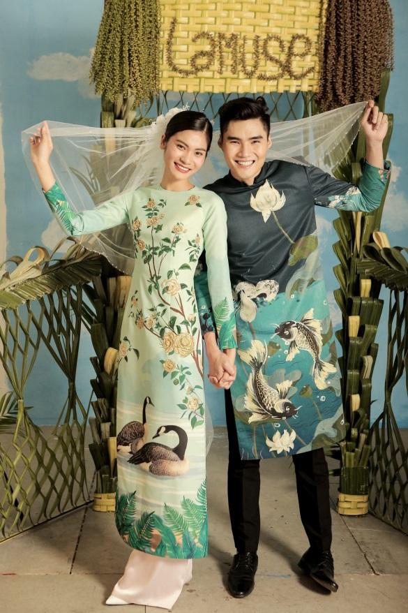 2 quán quân Next Top Model nổi bật với BST áo dài ngày cưới - Ảnh 9.