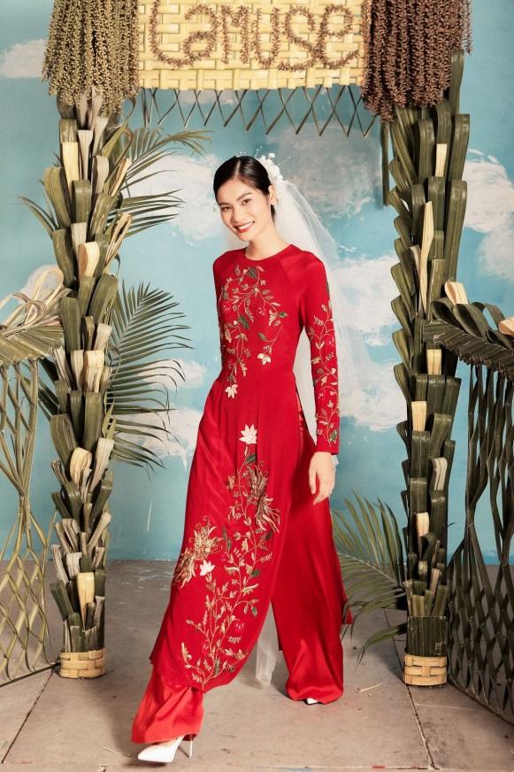 2 quán quân Next Top Model nổi bật với BST áo dài ngày cưới - Ảnh 11.