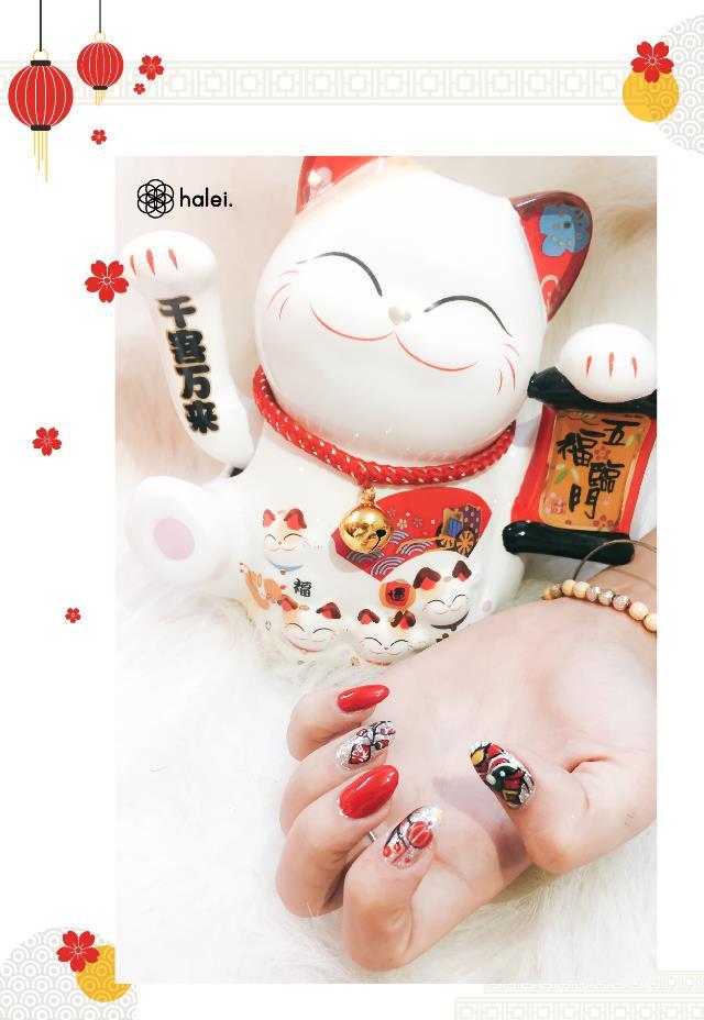 """Đón Tết long lanh cùng bộ sưu tập nail """"Mèo Thần Tài"""" cực cute - Ảnh 2."""