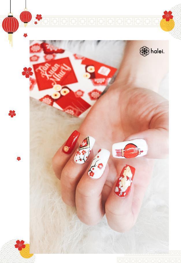 """Đón Tết long lanh cùng bộ sưu tập nail """"Mèo Thần Tài"""" cực cute - Ảnh 6."""