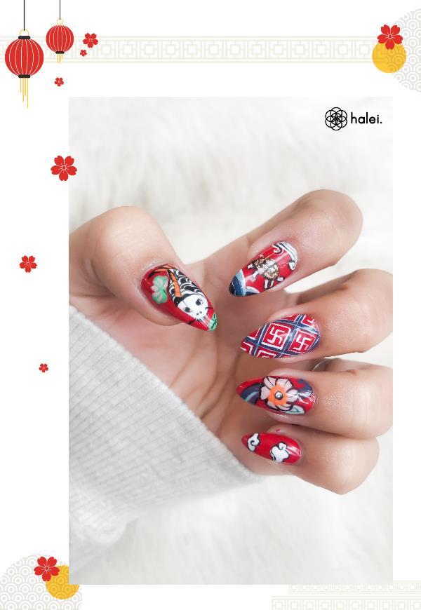 """Đón Tết long lanh cùng bộ sưu tập nail """"Mèo Thần Tài"""" cực cute - Ảnh 8."""