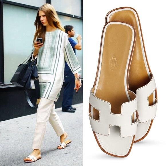 """Hermès Oran sandals – Mẫu dép cộp mác """"quý cô thanh lịch"""" - Ảnh 9."""