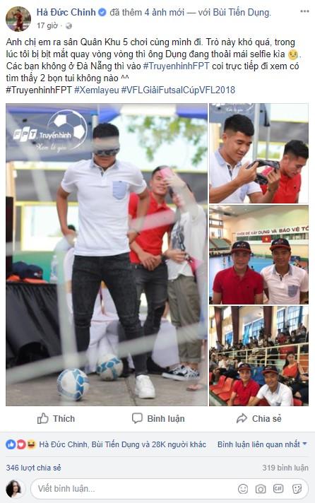 """Bắt gặp Đức Chinh, Tiến Dụng """"hẹn hò"""" đi xem Futsal tại Đà Nẵng - Ảnh 1."""
