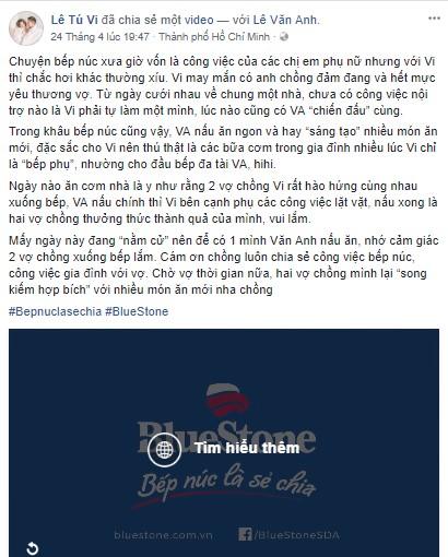 """Tú Vi, Văn Anh khiến fan thích thú với quan điểm """"cùng nhau vào bếp"""" - Ảnh 1."""