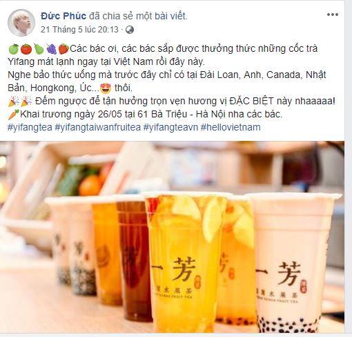 YIFANG Taiwan Fruit tea – Thương hiệu trà đang gây sốt cộng đồng mạng - Ảnh 2.