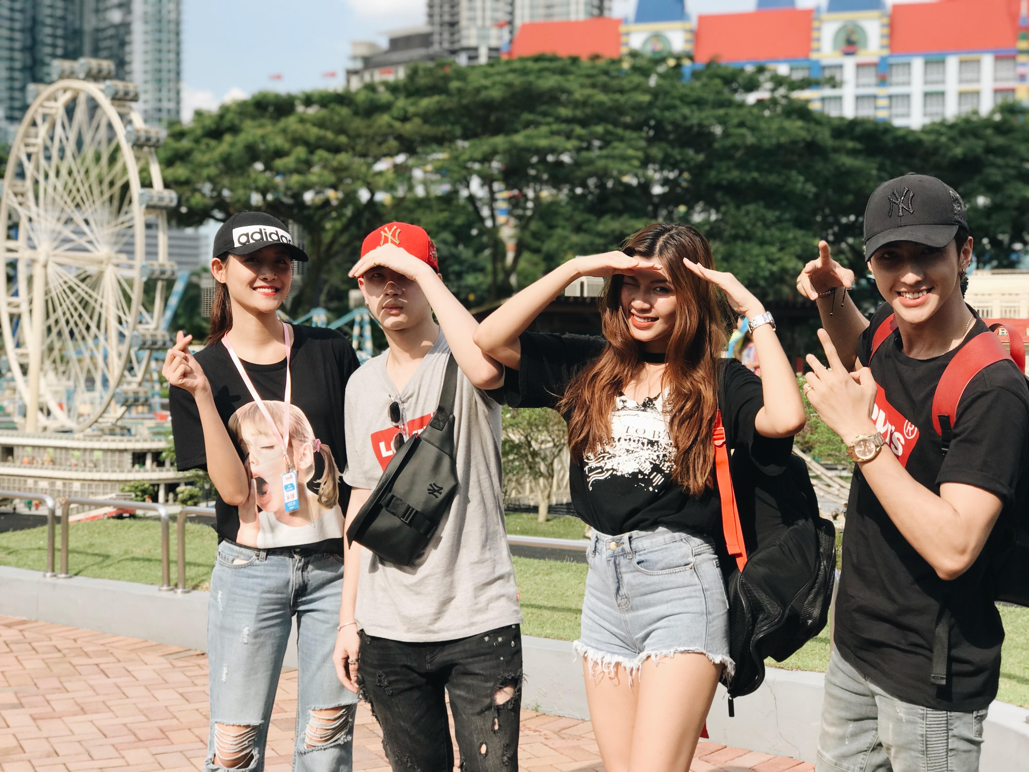 Trương Mỹ Nhân, Phí Ngọc Hưng đối đầu Đồng Ánh Quỳnh, Bình An trong chương trình du lịch tương tác tại Malaysia - Ảnh 3.