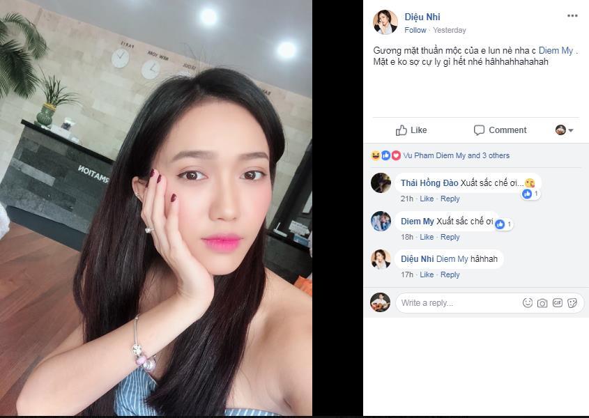 Diễm My 9x và loạt hot girl Việt rần rần thách nhau khoe ảnh selfie mặt mộc - Ảnh 3.
