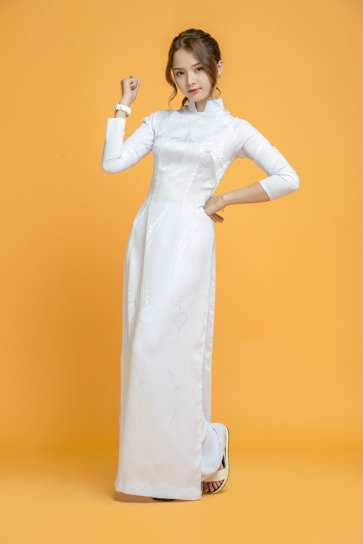 Những tà áo dài trắng phải chọn cho ngày tựu trường - Ảnh 3.