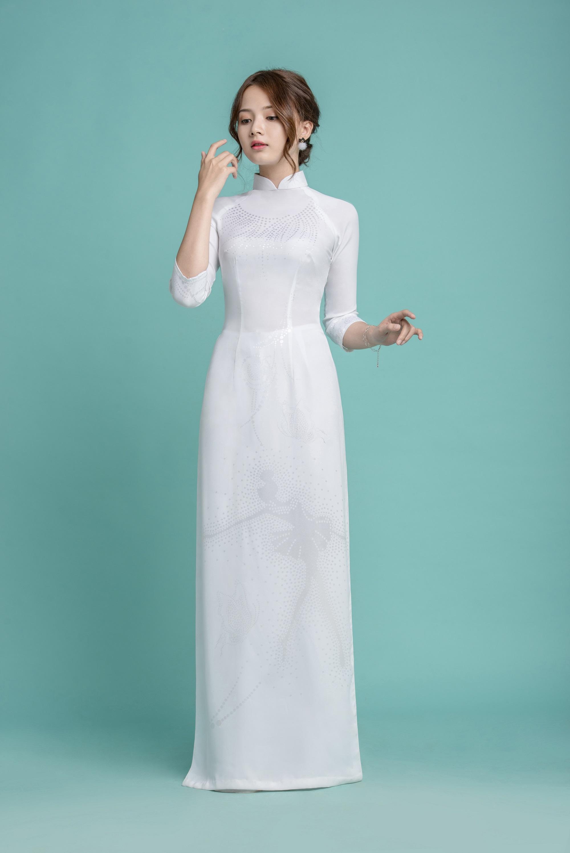 Những tà áo dài trắng phải chọn cho ngày tựu trường - Ảnh 7.