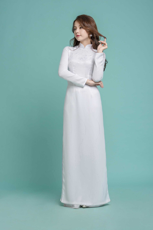 Những tà áo dài trắng phải chọn cho ngày tựu trường - Ảnh 8.