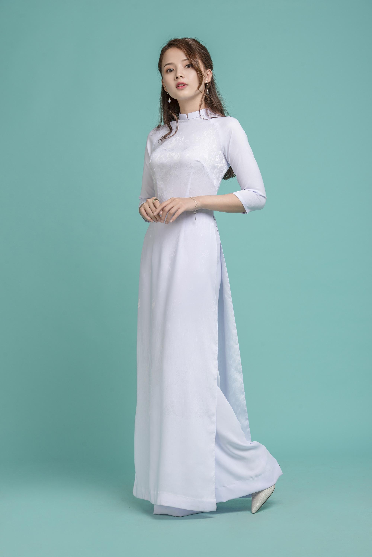 Những tà áo dài trắng phải chọn cho ngày tựu trường - Ảnh 9.