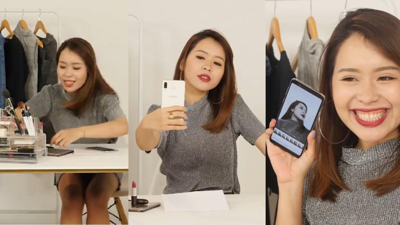 An Phương, Hoàng Ku, Minh Ngọc, Thành Long trang điểm cuống cuồng mà lên hình vẫn đẹp nhờ Galaxy A8 Star - Ảnh 2.