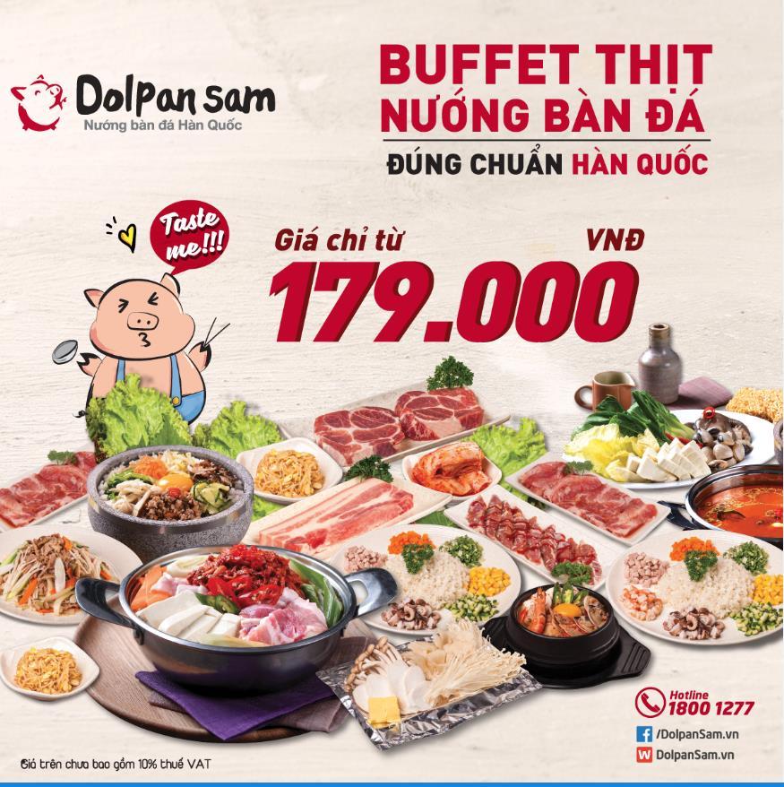 Thưởng thức buffet thịt nướng bàn đá độc đáo từ Hàn Quốc - Ảnh 1.