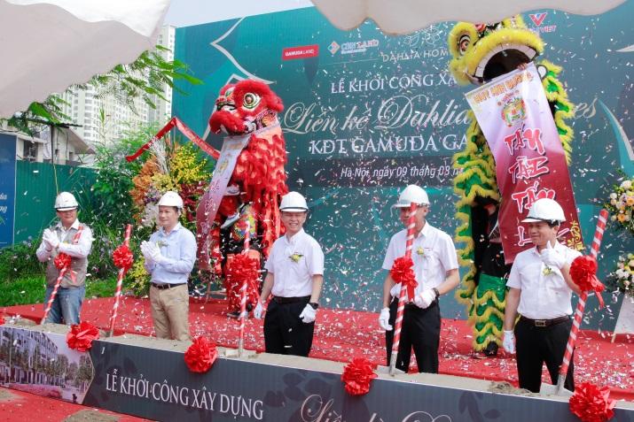 Khởi công dự án liền kề Dahlia Homes - Khu đô thị Gamuda Gardens - Ảnh 1.
