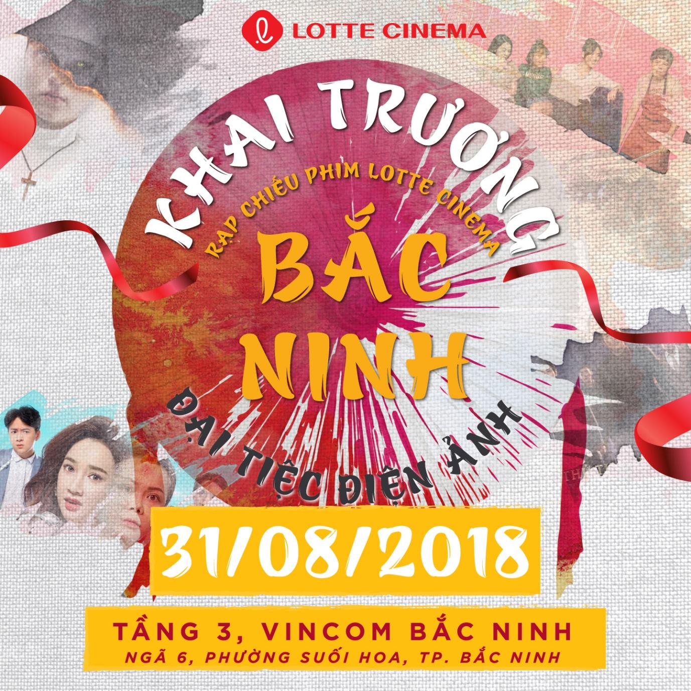 Tặng vé phim, miễn phí bắp nước dịp khai trương rạp Lotte Cinema Bắc Ninh - Ảnh 1.