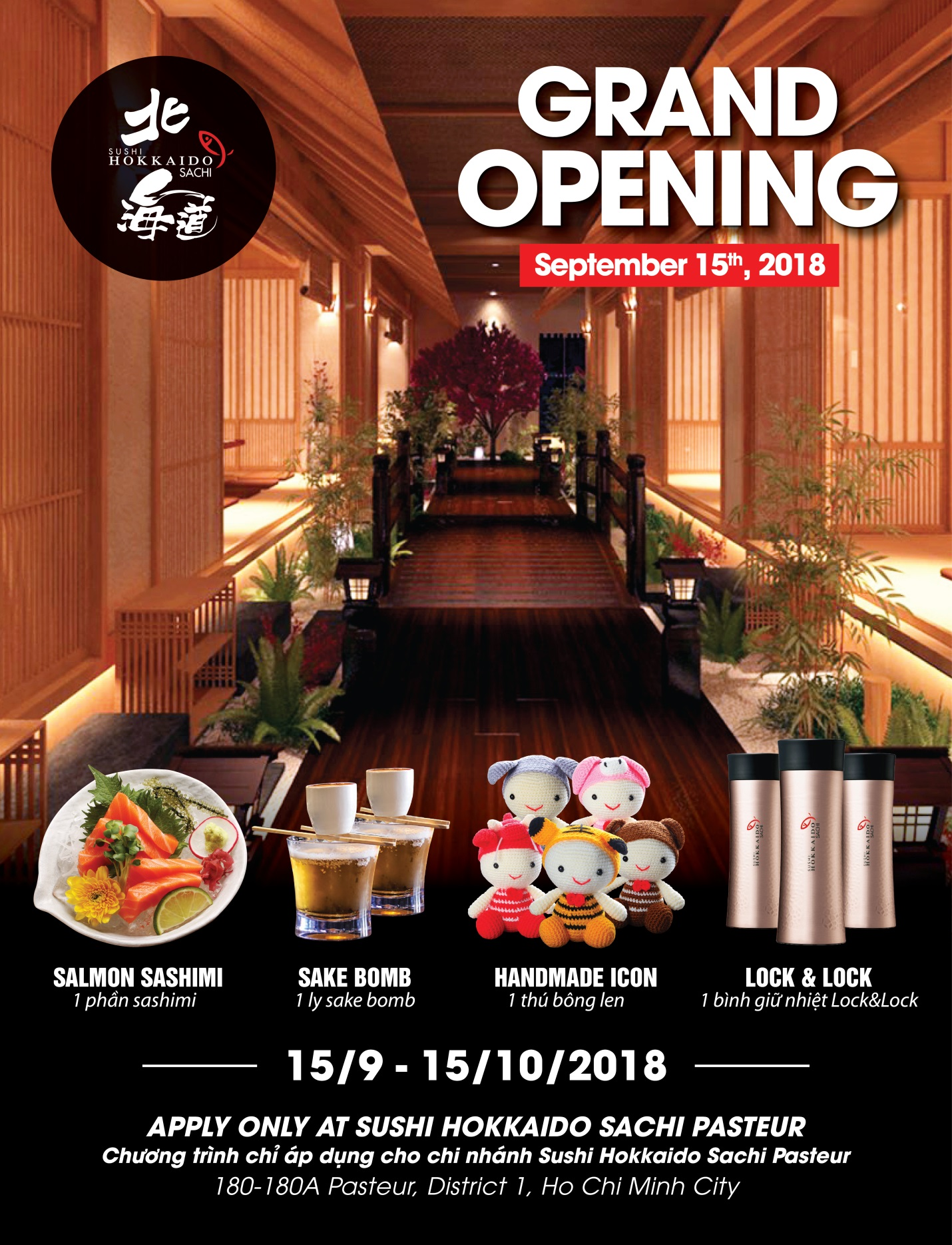 Khai trương nhà hàng Nhật Sushi Hokkaido Sachi - Ảnh 8.