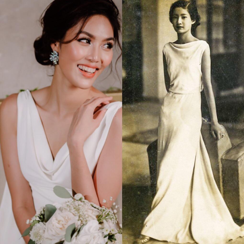 Váy cưới Lan Khuê trị giá 500 triệu có ý tưởng từ Nam Phương hoàng hậu - Ảnh 2.