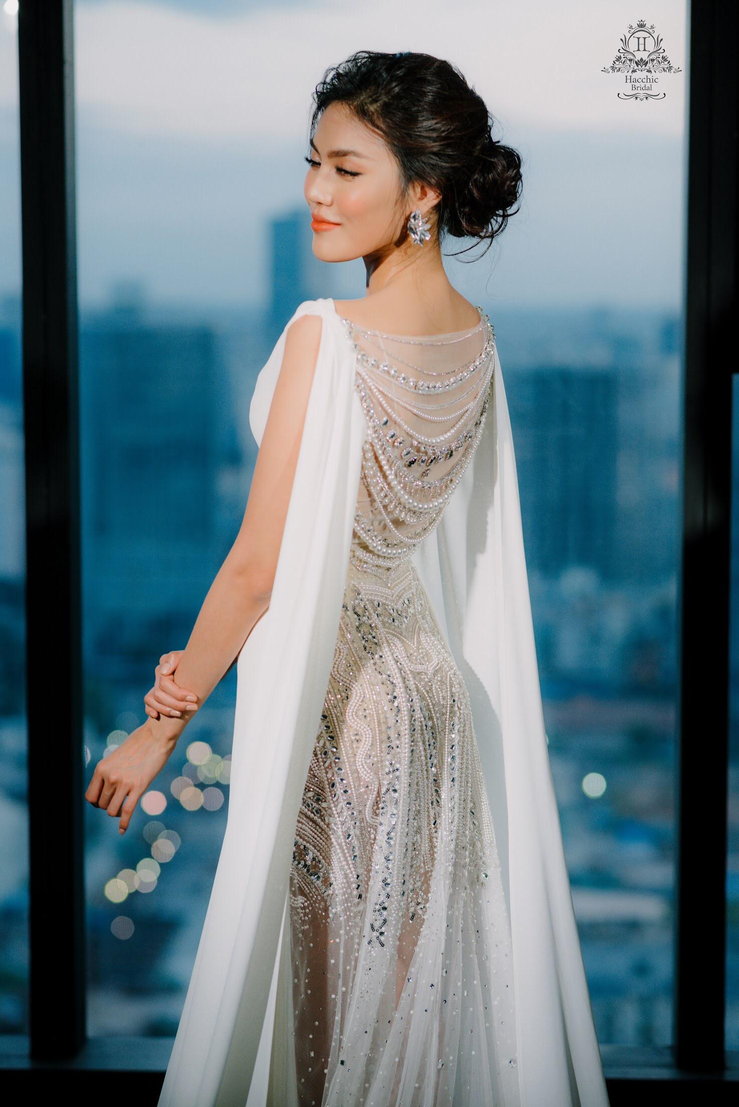 Váy cưới chính thức của Lan Khuê trị giá tới 500 triệu đồng đã được tiết lộ - Ảnh 7.
