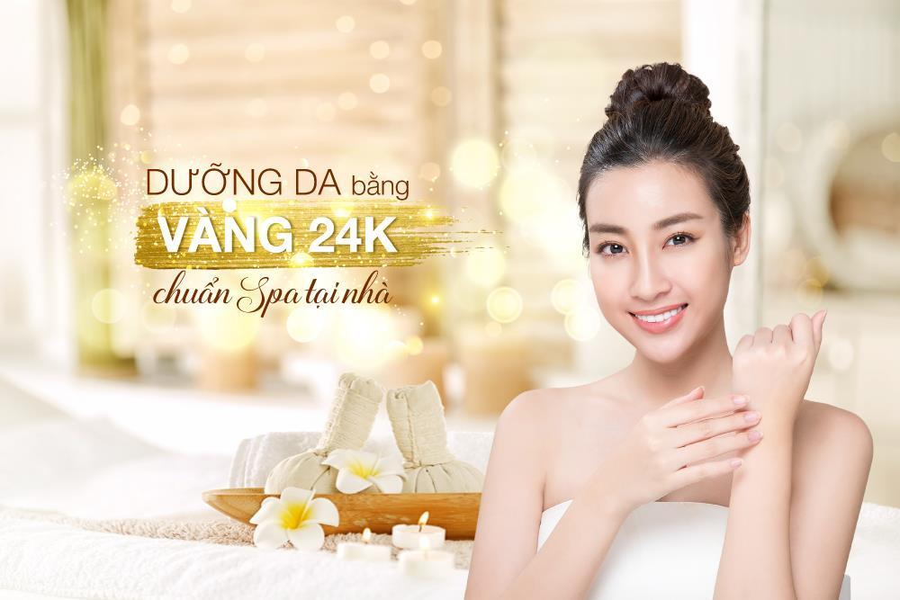 Trải nghiệm quy trình dưỡng da, ngăn ngừa lão hoá bằng vàng 24K chuẩn spa ngay tại nhà - Ảnh 1.