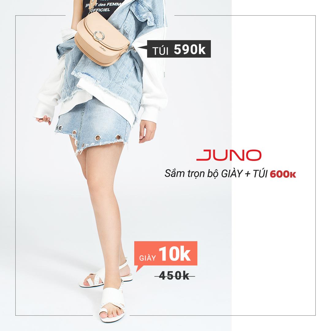 Phái đẹp chao đảo vì trọn bộ giày túi chỉ 600k của Juno - Ảnh 1.