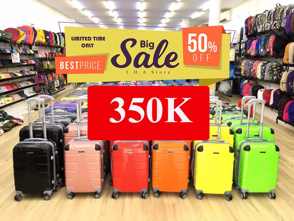 T.H.A Store tung khuyến mãi cực sốc cho vali du lịch, giá chỉ 350k - Ảnh 1.