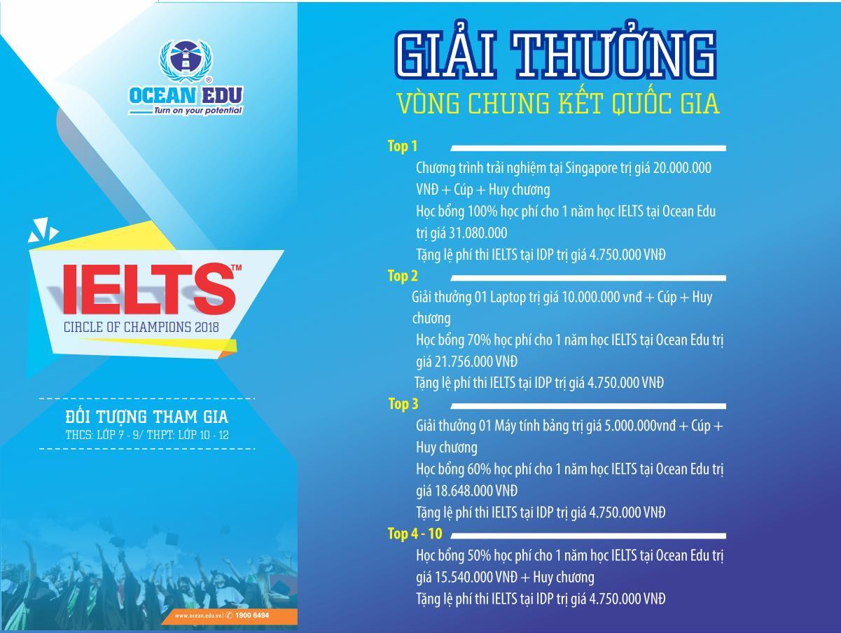 """Phát động cuộc thi tìm kiếm tài năng tiếng Anh """"IELTS circle of Champions 2018"""" cùng Ocean Edu - Ảnh 2."""