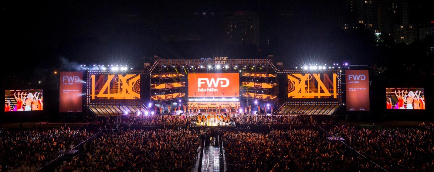 FWD Music Fest thành công mỹ mãn trong sự reo hò của 20.000 khán giả - Ảnh 1.
