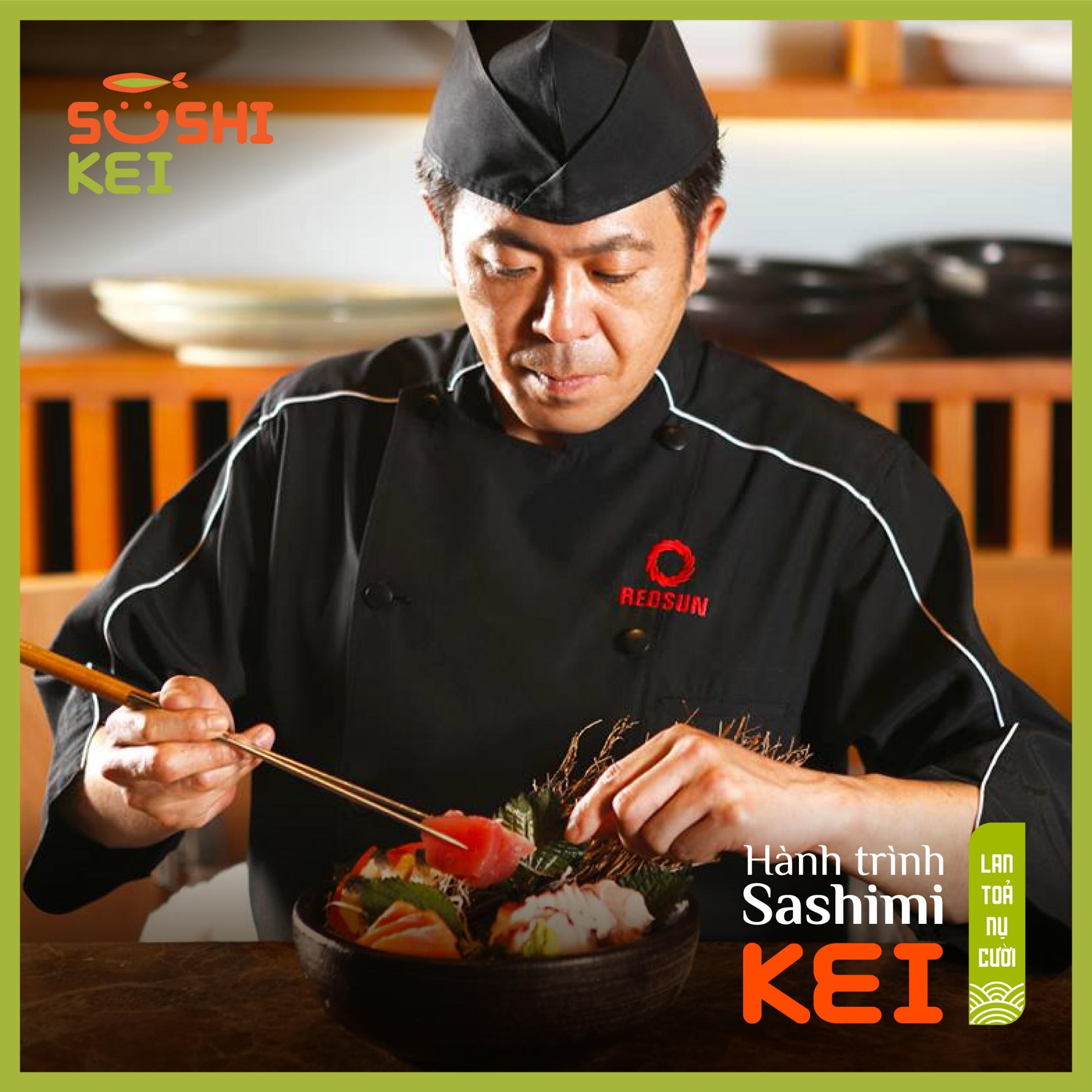 Kinh ngạc với cá ngừ khổng lồ 80kg cùng màn trình diễn chế biến chuyên nghiệp ngay tại nhà hàng Nhật - Sushi Kei - Ảnh 4.