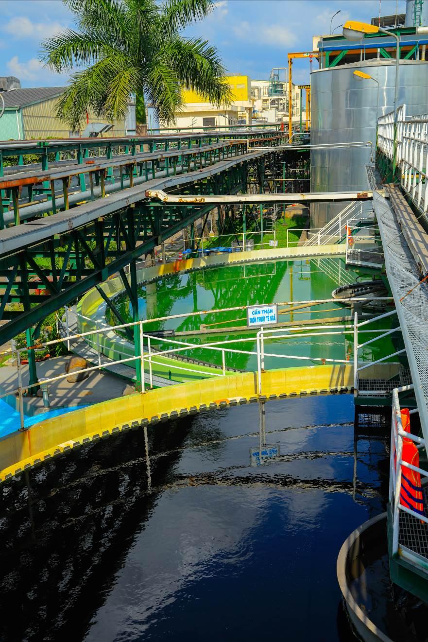 Hệ thống xử lý nước thải tập trung tại nhà máy Ajinomoto Biên Hòa được đầu tư với quy mô hơn 100 tỷ đồng.