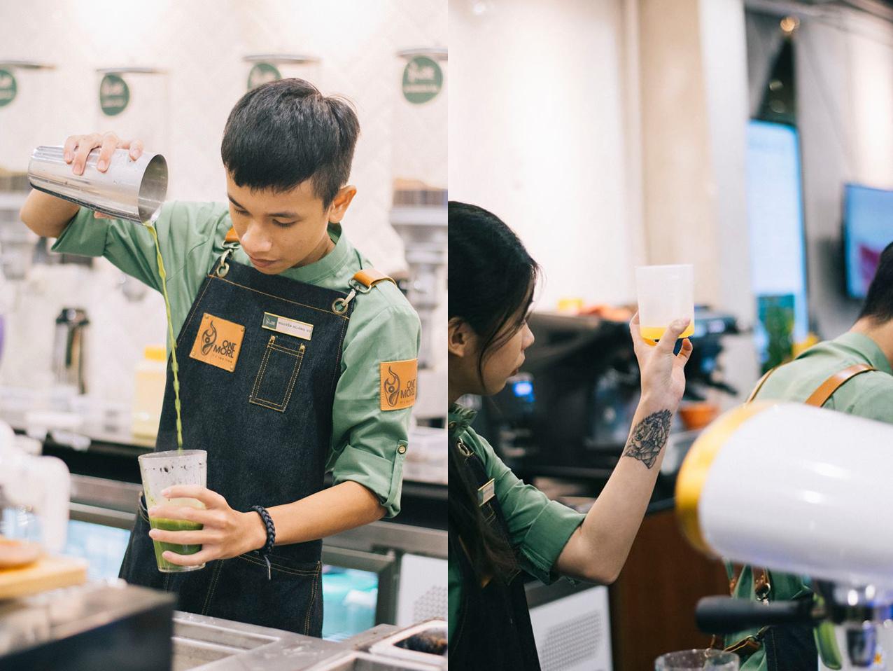 Giới trẻ Sài thành háo hức trải nghiệm trào lưu uống trà sữa One More Tea kiểu bartender - Ảnh 5.