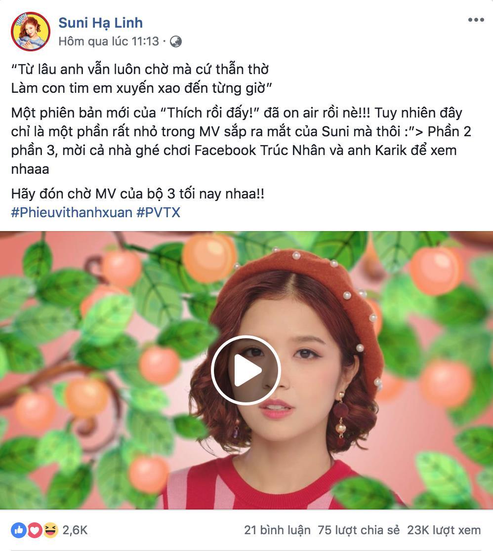 """Suni Hạ Linh, Trúc Nhân và Karik """"nhá hàng"""" MV mới khiến dân tình """"đứng ngồi không yên"""" - Ảnh 1."""